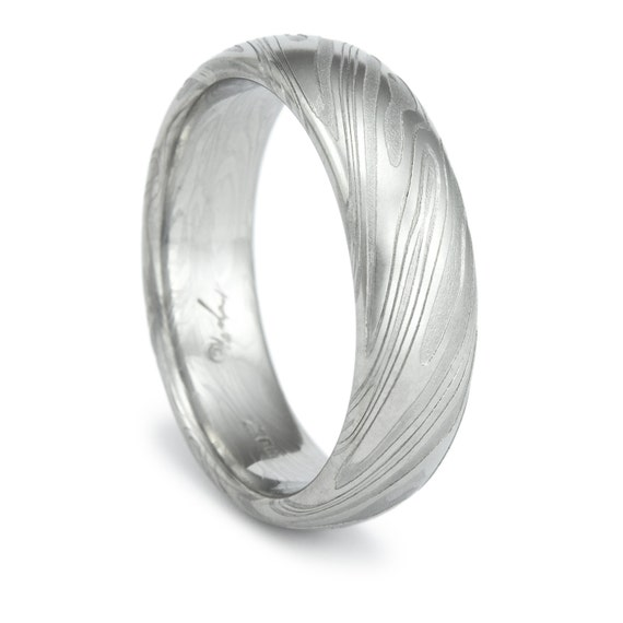 damascus steel ring unique men 39 s wedding band twisted wood