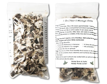 1 Oz (100+) Moringa Seeds - Paisley Farm & Crafts