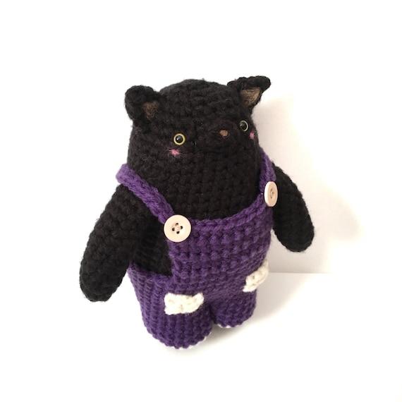 Amigurumi Cat Toys : Black Cat Plush Amigurumi Cat Crochet Cat Toy Cat by ...