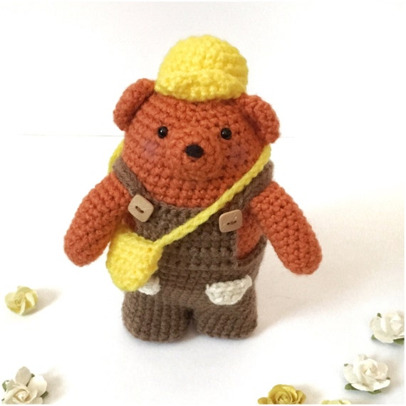 Amigurumi Baby Shower Bears : Bear Plush Amigurumi Bear Toy Crochet Bear Teddy by ...