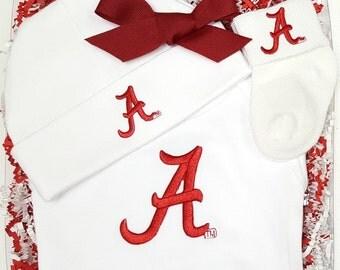 Alabama Crimson Tide 3 Piece Baby Clothing Gift Set