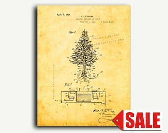 Patent Art - Christmas-tree-lighting Outfit Patent Wall Art Print