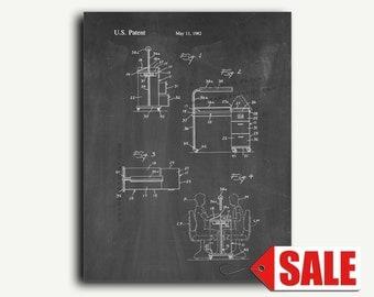 Patent Art - Manicure Table Patent Wall Art Print
