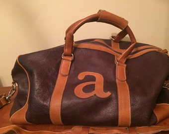 Roots Overnigt bag, Leather Carry All, Leather Duffel bag