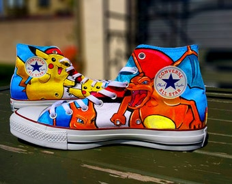 Pokemon Themed Converse up to 4 characters.