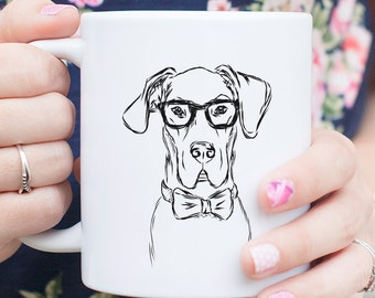 Harvey Great Dane Dog Mug - Gifts For Dog Owner, Great Dane Lover, Great Dane Art, Great Dane Gift, Great Dane Dog, Dog Lover
