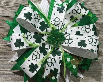 St Patricks Day Hair Bow, St Pattys Clip