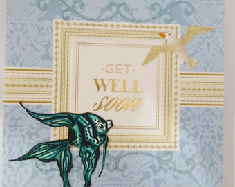 Get well pop up greeting card
