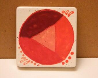 Garnet ceramic canvas