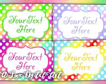 Instant download, card making Polka Dot, digital collage sheet, digital printable downloads, editable labels