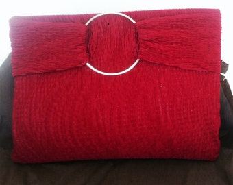 Red evening clutch /recycled vintage  1970's style clutch/ evening clutch/bohochic clutch/evening clutch