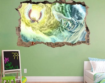 Pokemon Smashed Wall Decal Graphic Wall Sticker Home Decor Mural H180