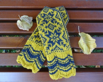 Handknitted norwegian Selbumittens - new price!!