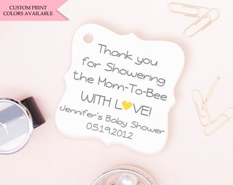 Bumble bee tags (30) - Bee baby shower tags - Baby shower tags - Bumble bee baby shower