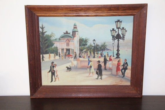 Early 20c Jon Agnello Oil on Board Framed and Signed