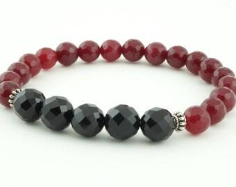 Men's bracelet- Jade & Onyx