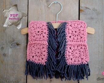 Crochet pattern Boho Bolero (baby to kids)