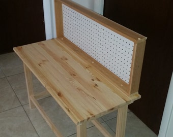 Childs Workbench, all wood construction, made to last for years, wood work bench