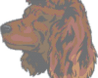 American Water Spaniel Dog Breed Cross Stitch Pattern graph  pattern and tutorial instant download