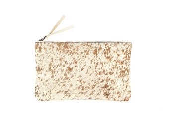 Hair on Hide Clutch - Caramel Spotted Cowhide | Bag | Purse | Wallet | Pouch