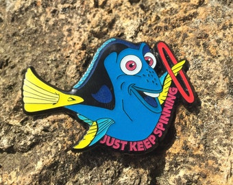 Hula Hooping Dory Hat Pin