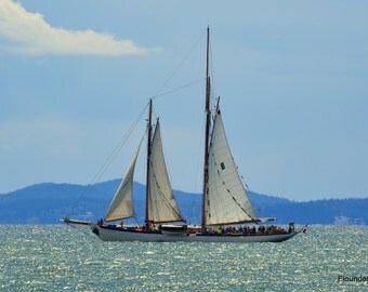 Sailing Vessel Zodiac, Sailboat, Sails on Bellingham Bay,