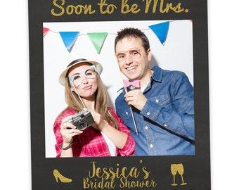 Pink Gold Bachelorette Photo Booth Prop | Bridal Shower Prop | Selfie Frame | Bachelorette Favor | Bride Gift | Bridal Shower Favor