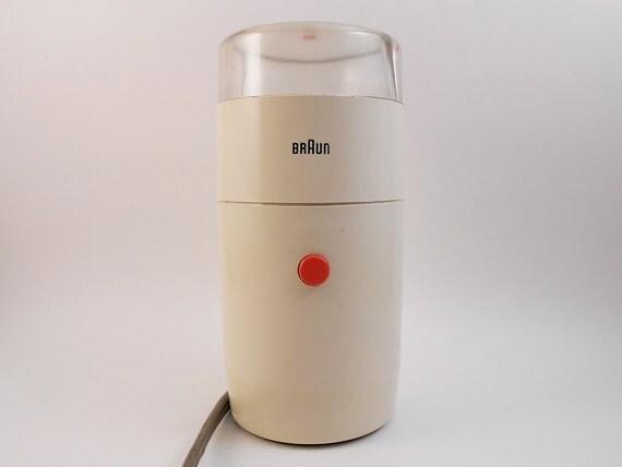 Braun Coffee Grinder ~ Vintage braun ksm white coffee grinder designed by reinhold