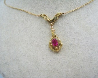 Beautiful Vintage 10k Yellow Gold Necklace