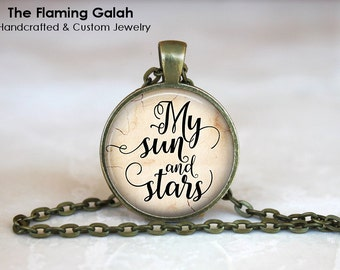 SUN MOON and STARS Vintage Style Necklace • Game of Thrones Style • Undying Love • Gift Under 20 • Made in Australia (P1057)