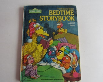 Sesame Street Bedtime Storybook, Vintage Children's Book from Sesame Street, Sesame Street, Jim Henson, The Muppets storybook, Muppets