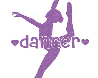 Dancer Leap Iron On Decal