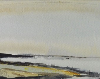 BUNTING BAY, East Prawle, Devon, June 2016. Original Watercolour Landscape Painting.