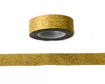 WASHISAMPLE gold washi with glitter 1,5mm wide