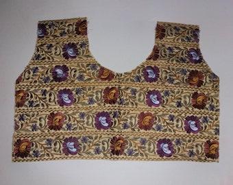 Indian ethnic embroidery colourfull blouse