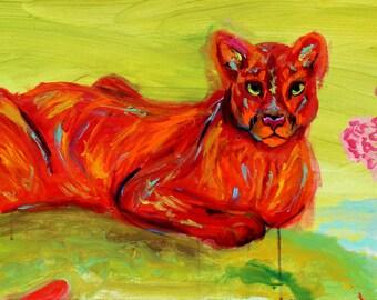 Cougar - Artist Print- Signed By Christian Acamo