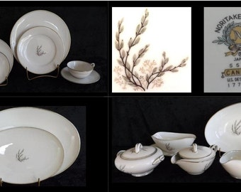 REDUCED - 66 piece Noritake Candace Pattern China with Accessories (c.1959-1964)