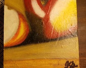 Still life oil painting on canvas