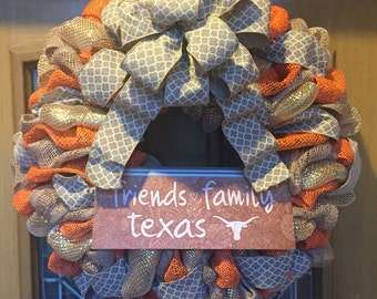 University of Texas Longhorn Wreath