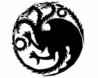 House Targaryen Game Of Thrones Vinyl Decal, smartphone, Yeti Cup decal, windows, car decal, truck decal, jeep decal, coolers, game consoles