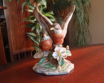 Porcelain Robin Bird Figures Figurine Statue China Collectible Home décor Knick Knacks  a2245