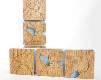Triple custom map art