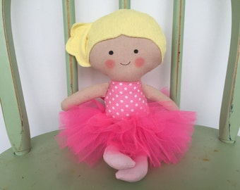 Pretty Handmade Ballerina Doll in Pink