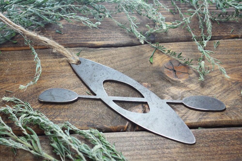Kayak Christmas Ornament Metal Christmas Tree Ornament Holiday