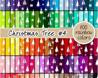 SALE 100 christmas tree digital paper tree digital paper christmas clipart tree pattern scrapbooking clipart 12x12 pastel neutral bright dar