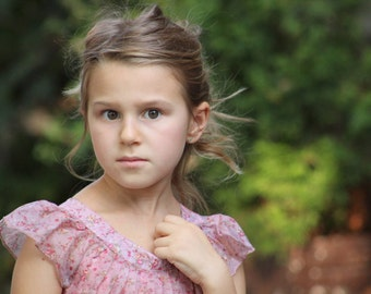 Toddler dress, Girls toddler dress, Flower print dress, Summer girls dress, Romantic girl dress, Girls outfits