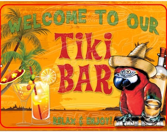 Tiki Bar Welcome Sign from Redeye Laserworks
