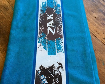 Personalised Dirtbike Design Towel with Name of choice