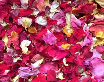 Fresh Dried Rose Petals, Weddings, parties, home decor