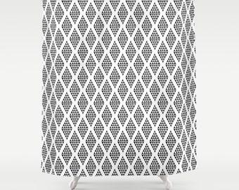 45 colors Modern Shower Curtain, Scandinavian Shower Curtain, Black and white Minimalist Shower Curtain, Geometric Triangle Shower Curtain
